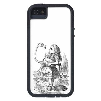 Alice in Wonderland flamingo croquet vintage print iPhone 5 Covers