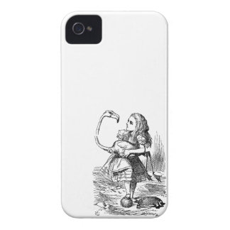 Alice in Wonderland flamingo croquet vintage print iPhone 4 Case-Mate Cases