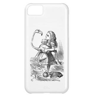 Alice in Wonderland flamingo croquet vintage print iPhone 5C Covers