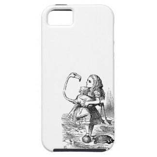 Alice in Wonderland flamingo croquet vintage print iPhone 5 Cases