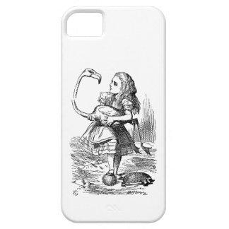 Alice in Wonderland flamingo croquet vintage print iPhone SE/5/5s Case
