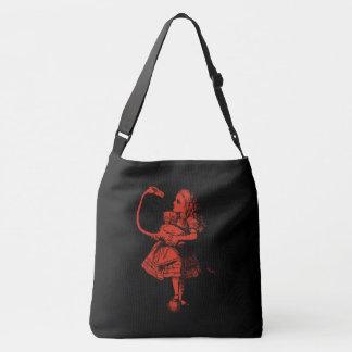 Alice in Wonderland & Flamingo Crossbody Bag