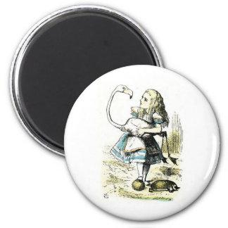 Alice in Wonderland: Flamingo Fridge Magnets