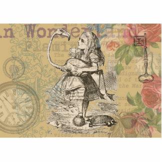 Alice in Wonderland Flamingo Photo Cutout