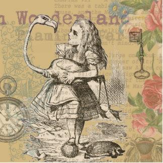 Alice in Wonderland Flamingo Standing Photo Sculpture