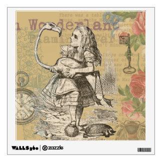 Alice in Wonderland Flamingo Wall Sticker