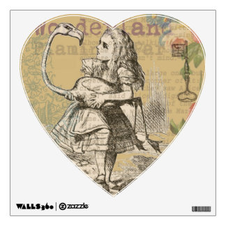 Alice in Wonderland Flamingo Wall Graphic