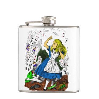 Alice in Wonderland Flask Attack of Cards