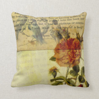 Alice in Wonderland Floral Mixed Media Pillows