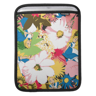 Alice in Wonderland Floral Pattern Sleeves For iPads
