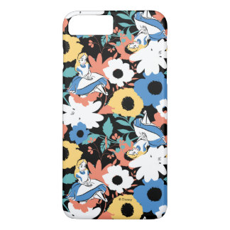 Alice in Wonderland Floral Retro Pattern iPhone 8 Plus/7 Plus Case