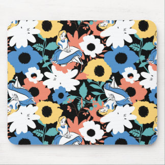 Alice in Wonderland Floral Retro Pattern Mouse Pad
