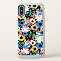 Alice in Wonderland Floral Retro Pattern OtterBox Symmetry iPhone X Case