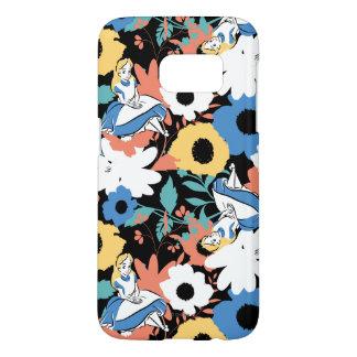 Alice in Wonderland Floral Retro Pattern Samsung Galaxy S7 Case