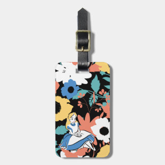 Alice in Wonderland Floral Retro Pattern Tag For Luggage