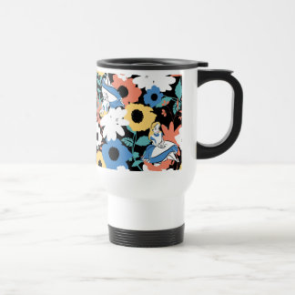 Alice in Wonderland Floral Retro Pattern Travel Mug