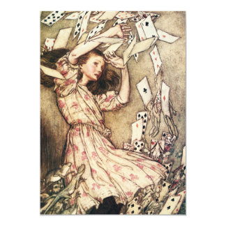 Alice in Wonderland Flying Cards Invitations