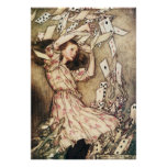 Alice in Wonderland Flying Cards Poster