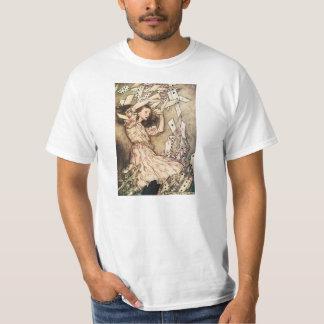 Alice in Wonderland Flying Cards T-shirt