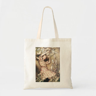 Alice in Wonderland Flying Cards Tote Bag