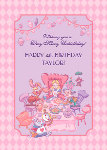 Alice in wonderland birthday cards greeting photo cards zazzle alice in wonderland folded birthday card bookmarktalkfo Image collections