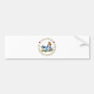 Alice In Wonderland - Follow Me Bumper Sticker