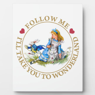 Alice In Wonderland - Follow Me Display Plaques