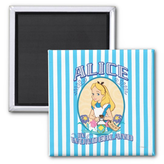 Alice In Wonderland Frame Magnet Zazzlecom
