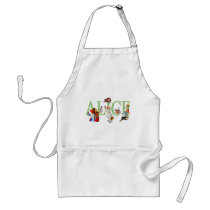 ALICE IN WONDERLAND & FRIENDS ADULT APRON