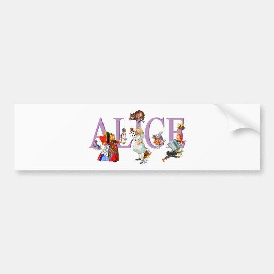 ALICE IN WONDERLAND & FRIENDS BUMPER STICKER