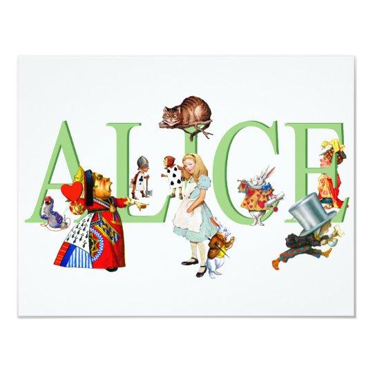 ALICE IN WONDERLAND & FRIENDS CARD