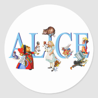 ALICE IN WONDERLAND & FRIENDS CLASSIC ROUND STICKER