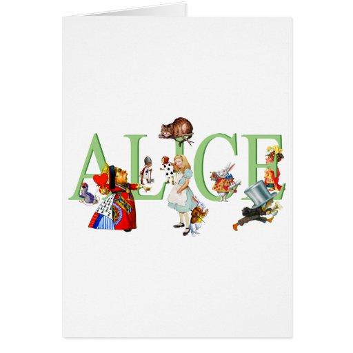 ALICE IN WONDERLAND & FRIENDS GREETING CARD