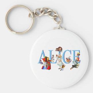 ALICE IN WONDERLAND & FRIENDS KEYCHAIN