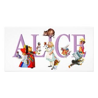ALICE IN WONDERLAND FRIENDS CUSTOM PHOTO CARD