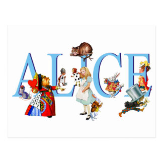 ALICE IN WONDERLAND & FRIENDS POSTCARD