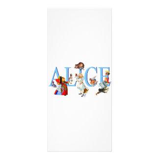 ALICE IN WONDERLAND & FRIENDS RACK CARD