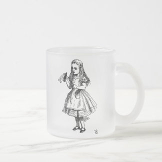 Alice in Wonderland Frosted Glass Coffee Mug