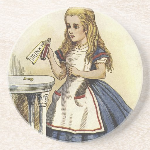 Alice in Wonderland fun Drink Coaster