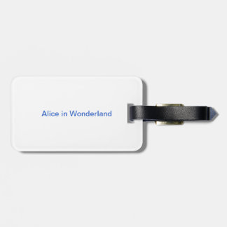 Alice in Wonderland fun Luggage Tag