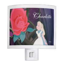 Alice in Wonderland Garden Flower - Add Your Name Night Light