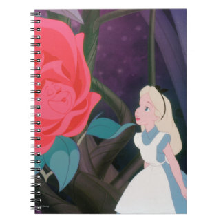 Alice in Wonderland Garden Flower Film Still Notebook