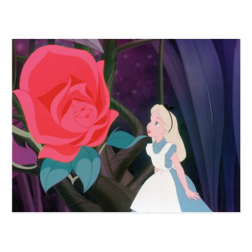 alice in wonderland garden flower film still postcard zazzle. Black Bedroom Furniture Sets. Home Design Ideas