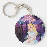 Alice in Wonderland Garden Flowers Film Still Basic Round Button Keychain