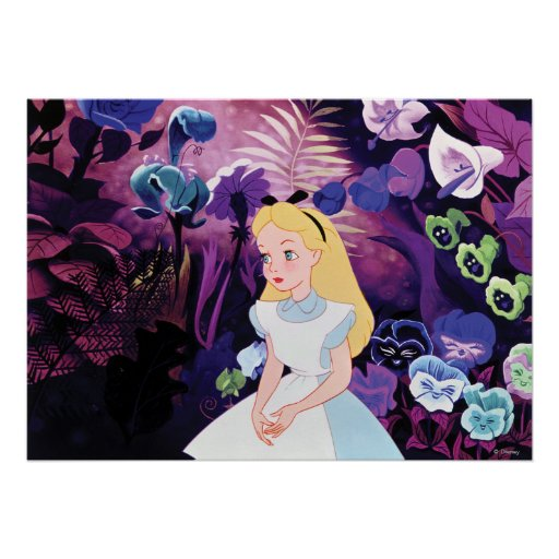 alice in wonderland garden flowers film still poster zazzle. Black Bedroom Furniture Sets. Home Design Ideas