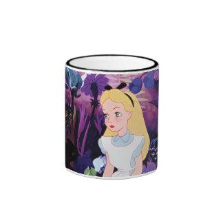 Alice in Wonderland Garden Flowers Film Still Ringer Mug