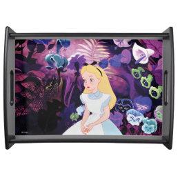 Alice in Wonderland Garden Flowers Film Still Serving Tray