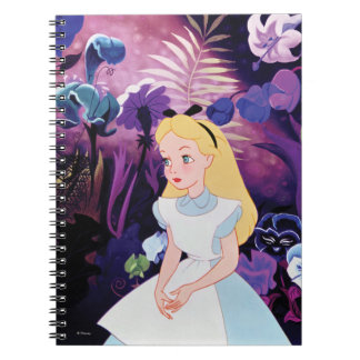 Alice in Wonderland Garden Flowers Film Still Spiral Note Books