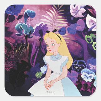 Alice in Wonderland Garden Flowers Film Still Square Sticker