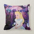 Alice in Wonderland Garden Flowers Film Still Throw Pillow
